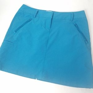 Adidas golf climacool blue skort skirt w/shorts 6